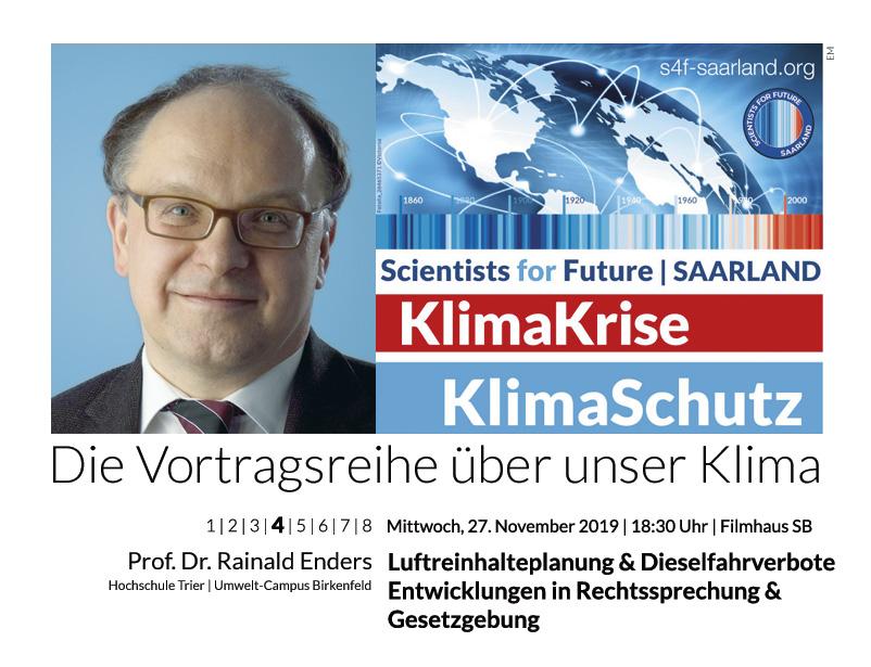 Prof. Dr. Rainald Enders: Luftreinhalteplanung & Dieselfahrverbote – Entwicklungen in Rechtssprechung & Gesetzgebung