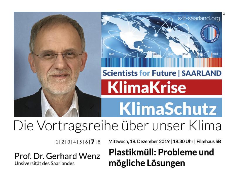 Prof. Dr. Gerhard Wenz: Plastikmüll – Probleme & mögliche Lösungen