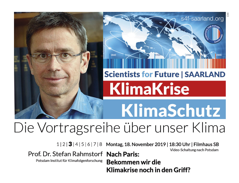 Prof. Dr. Stefan Rahmstorf: Nach Paris – Bekommen wir die Klimakrise noch in den Griff?