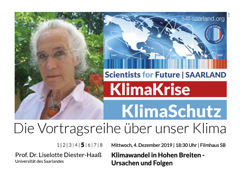 Prof. Dr. Lieselotte Diester-Haaß: Klimawandel in Hohen Breiten – Ursachen und Folgen