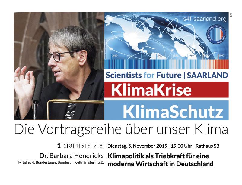 Dr. Barbara Hendricks | MdB | Bundesministerin a.D.: Klimapolitik als Triebkraft für eine moderne Wirtschaft in Deutschland