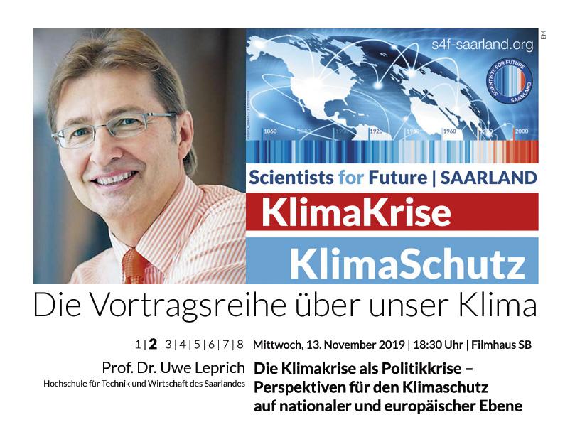 Prof. Dr. Uwe Leprich: Die Klimakrise als Politikkrise – Perspektiven für den Klimaschutz auf nationaler und europäischer Ebene 13
